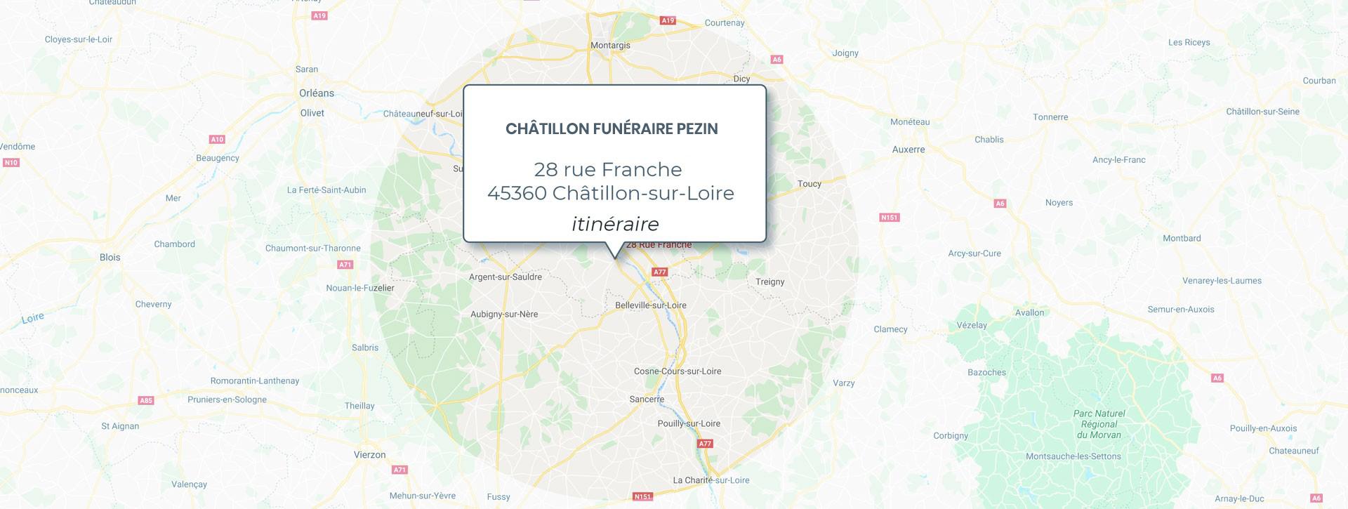 Chatillon Sur Loire + 50 km